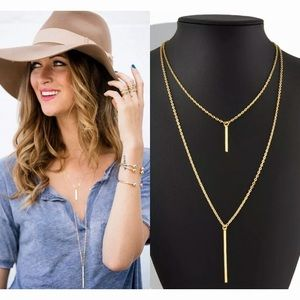 Jewelry - Gold Plated Double Layer Necklace